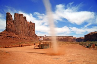 little tornado in Monument Valley