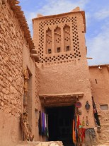 Tower in Ait Ben Haddou Kasbah, Morocco.