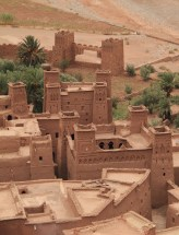 Roof tops of Ait Ben Haddou Kasbah, Morocco.