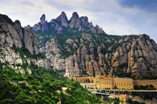 Montserrat Monastery in the mountains