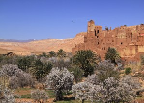 Morocco Ouarzazate - Remains of a medieval Kasbah.