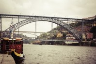 view of Porto in Portugal with the famous bridge