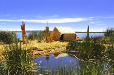 Traditional house in Uros Island, Titicaca Lake