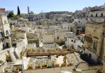 Matera ancient city panoramic view, Italy