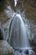 Wahkeena Falls in Winter, Columbia River Gorge, Oregon