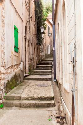 Old stone stairs in Herceg Novi, Montenegro
