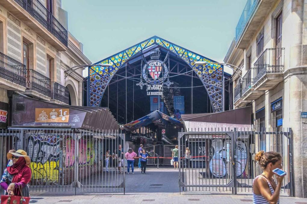 La Boqueria central market of Barcelona