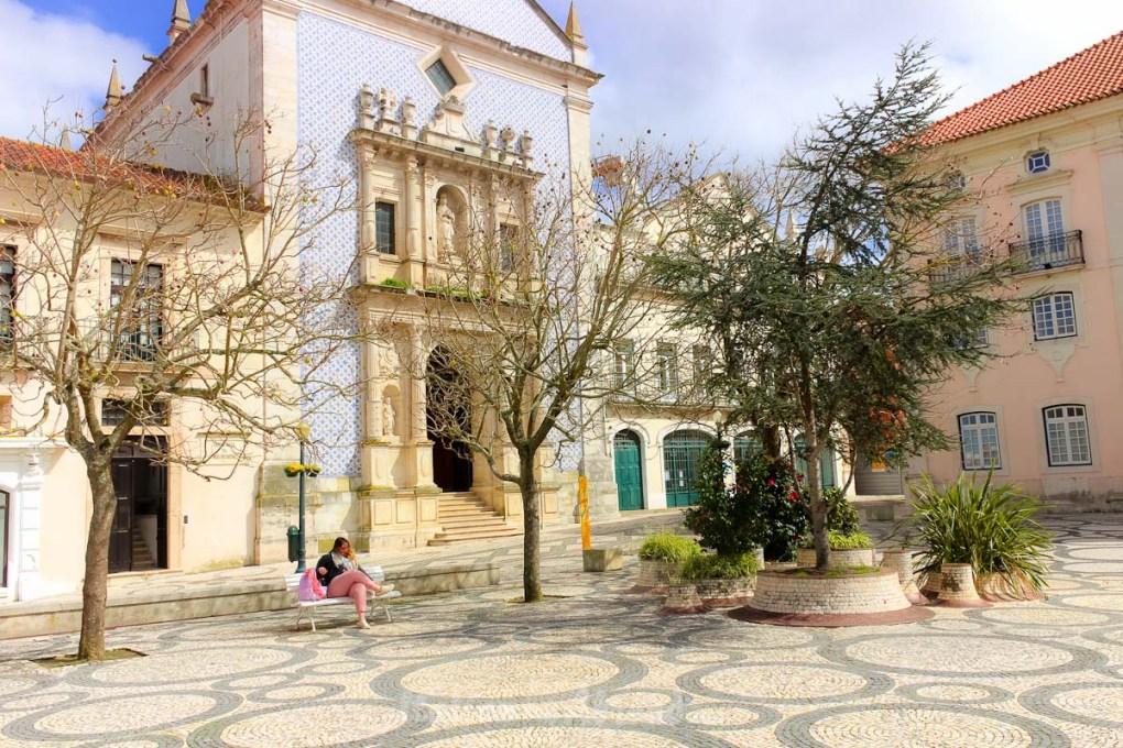 Iconic square in Aveiro Portugal