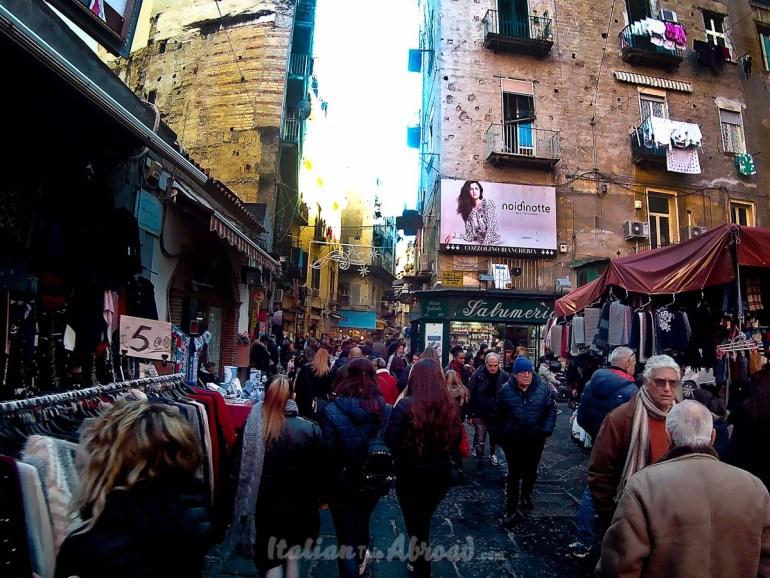 Napoli borough Quartieri market - Naples
