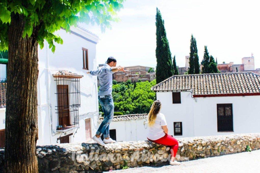 City centre of Granada Spain - Tour of Andalucia - Alhambra