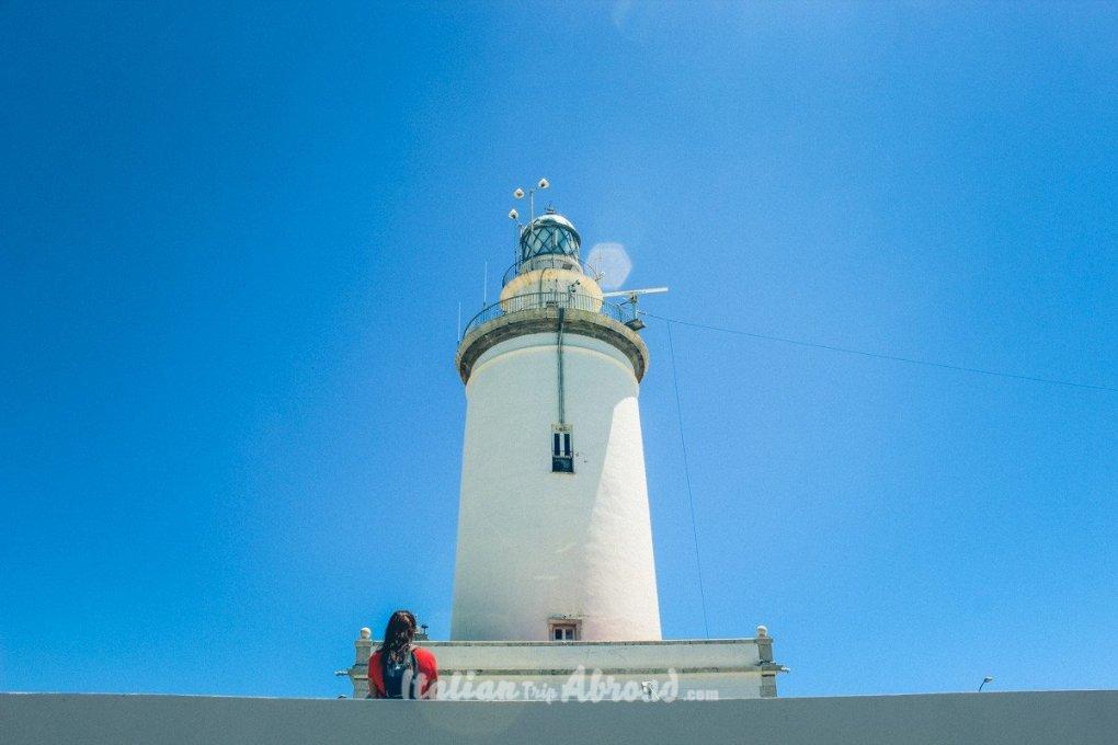Malaga lighthouse - La Malagueta the best beaches in Malaga