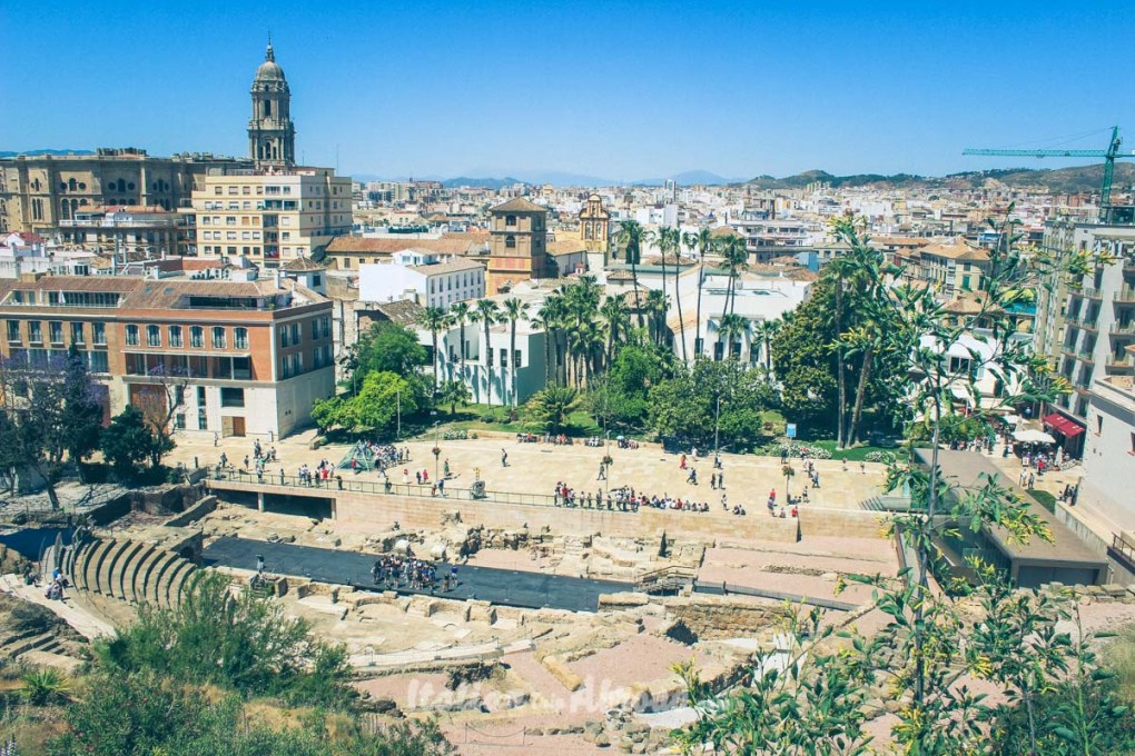 Free walking tour in Malaga - The view from the Alcazaba