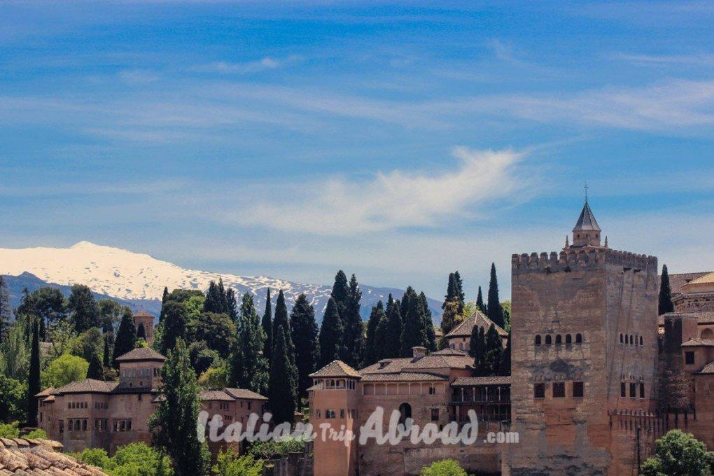 Alhambra of Granada from the Mirador de San Nicolas