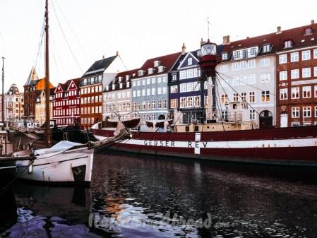 Seaport of Copenhagen in winter
