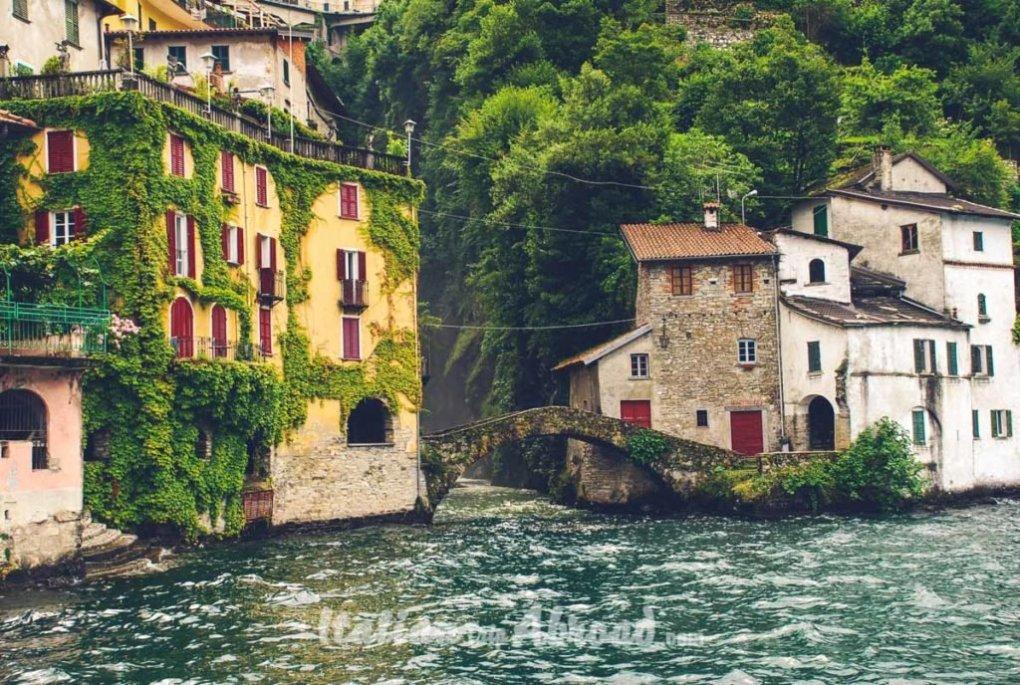 Italy Lago Di Como Scenery Village Lake Como