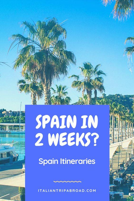 Sunny trips in Spain in 2 weeks