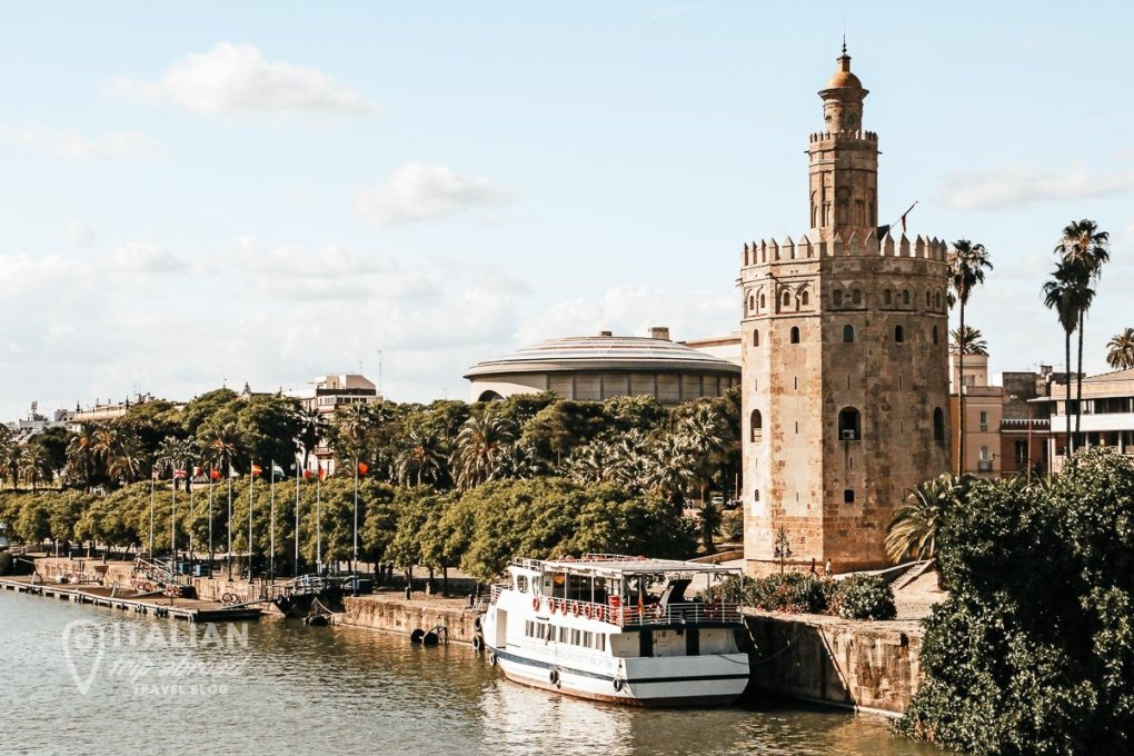 Sevilla Golden Tower and River View
