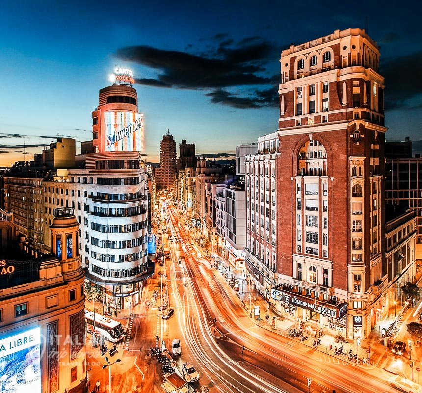 Top rooftop bars in Madrid