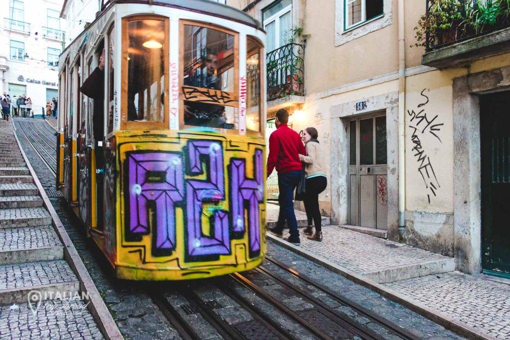 Ascensor da bica - Lift between the hills of Lisbon