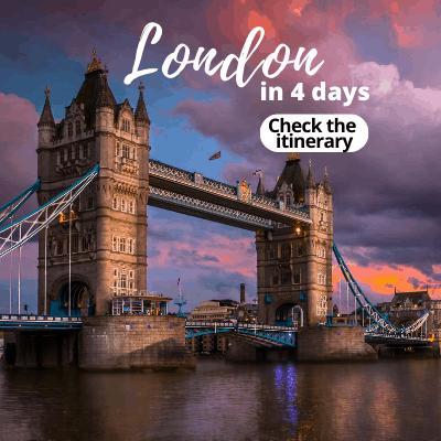 London itinerary 4 days