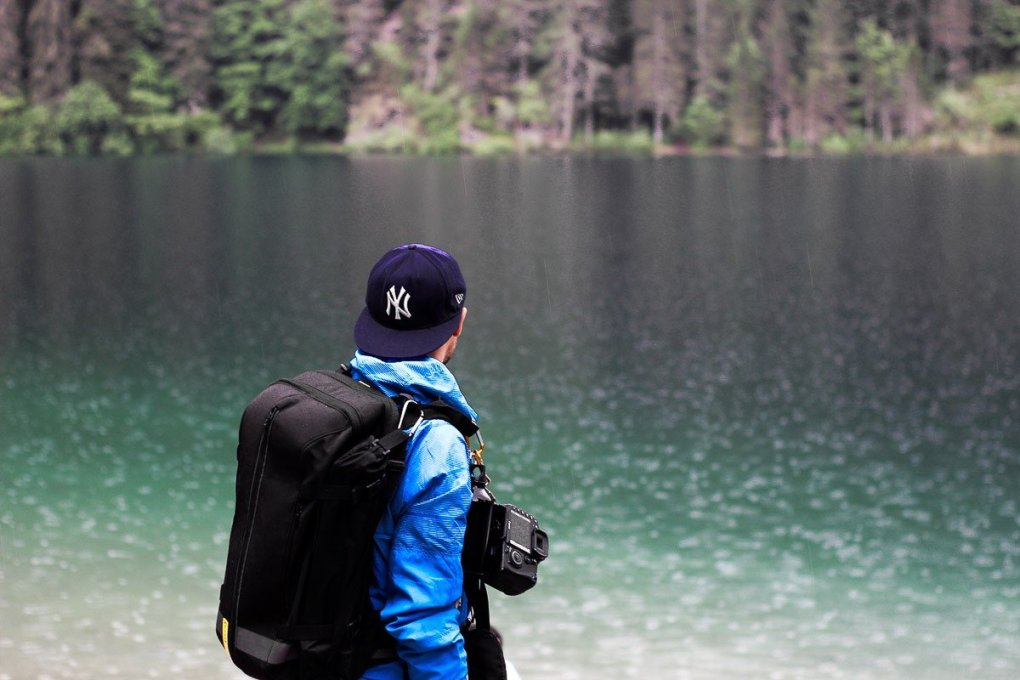 Lake Tovel in Val di Non - Trentino Italy