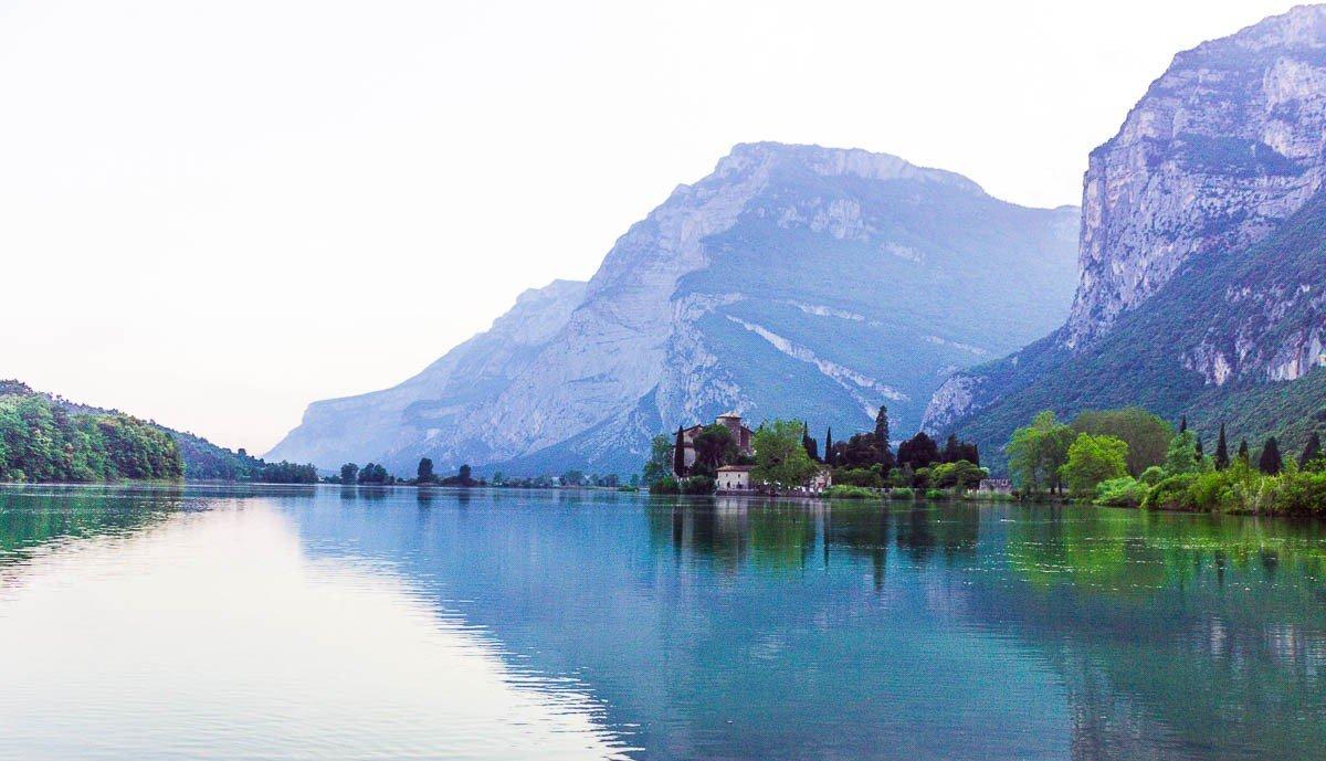 Trentino Lakes - Best things to do in Trentino - Lake of Toblino at sunrise