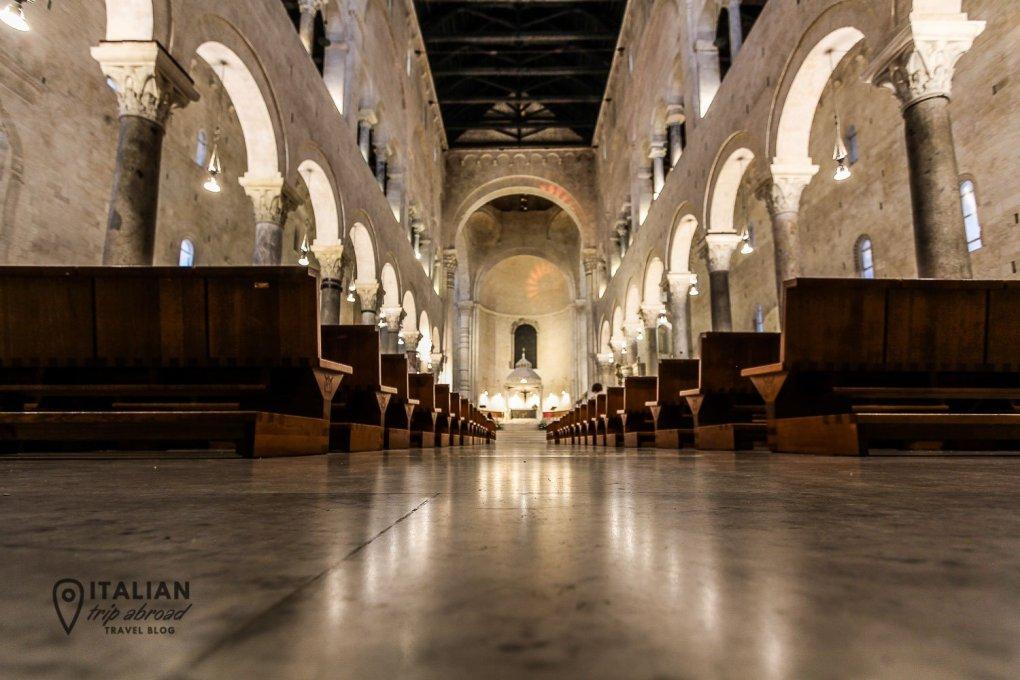 Intern of San Sabino Basilica in Bari Old Town