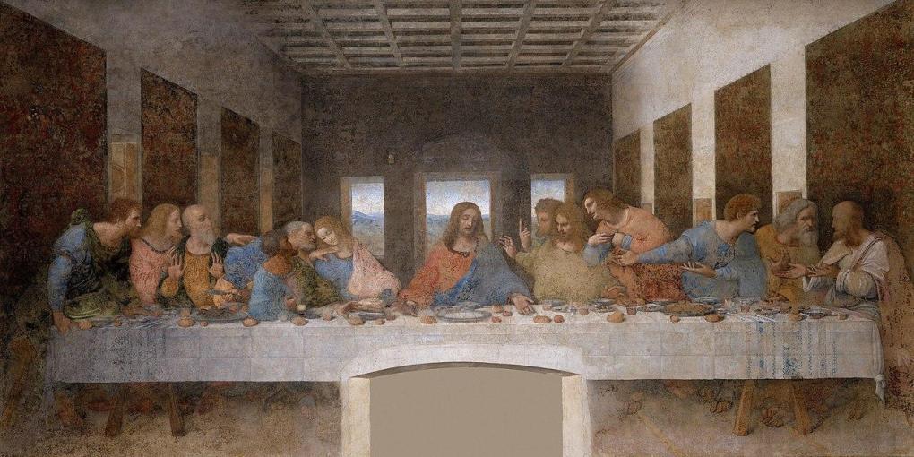 Last supper of Leonardo da Vinci at Santa Maria delle Grazie Basilica of Milan, Italy