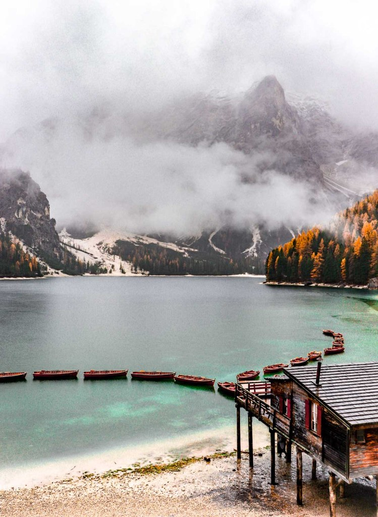 Lake Braies early in the morning - This is an unmissable spot in a Dolomites Itinerary