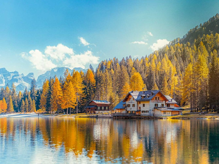The Nambino Lake it's an hidden gem in the Dolomites, nearby Madonna di Campiglio