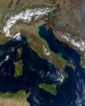 71570064-Italy satellite image