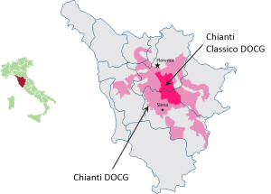 Chianti zone map