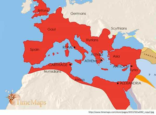 Maximum extent of the Roman Empire