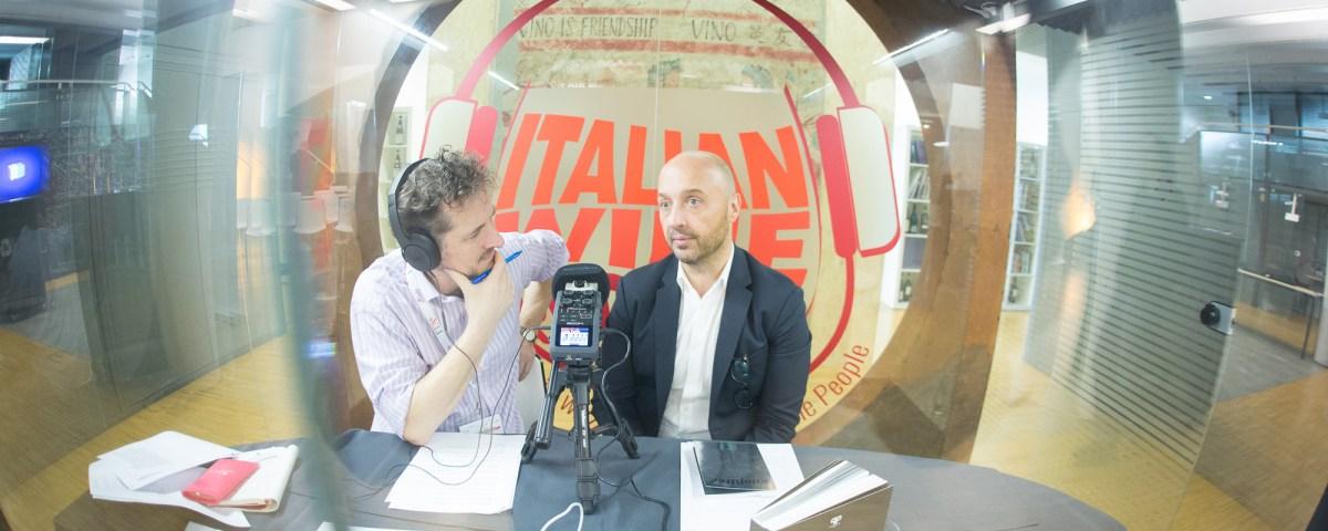 Monty Waldin and Joe Bastianich recording the Italian Wine Podcast