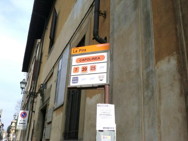 フィレンツェ フィエーゾレ バス停