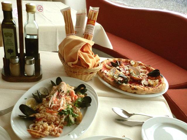 ポジターノのレストラン