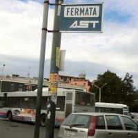 カターニアのバス乗り場