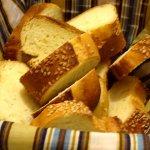 イタリアのレストランのパン