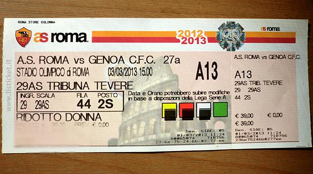 ローマのチケット