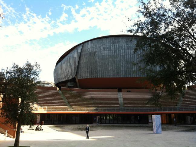 レンゾ・ピアノのローマ コンサートホール