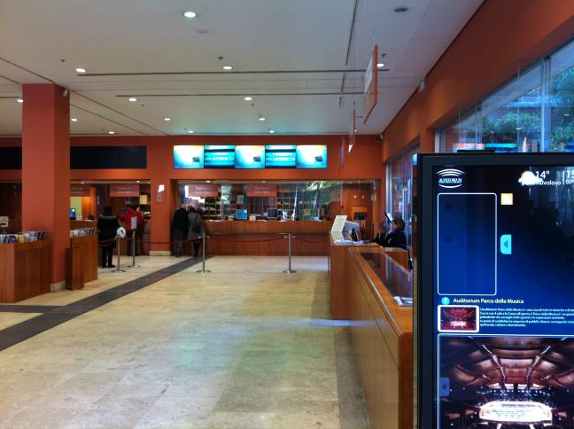 レンゾ・ピアノのローマ コンサートホール チケット売り場