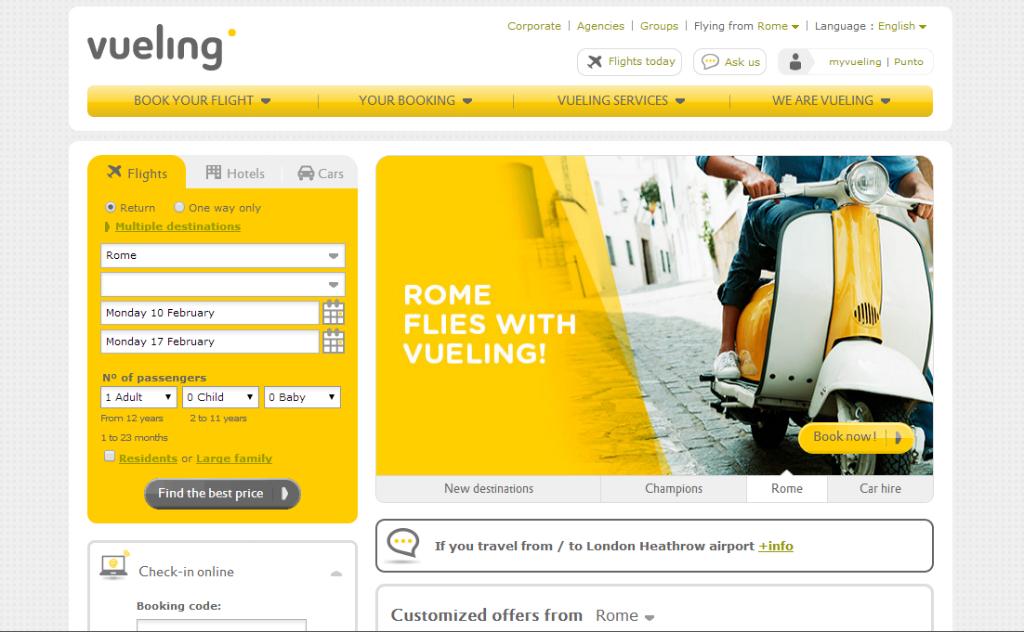 ヴエリング スペインの格安航空会社