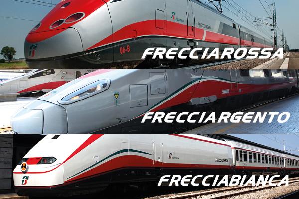 イタリア Trenitalia - トレニタリア社のフレッチャ鉄道