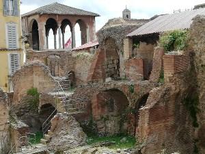 トラヤヌスのマーケット遺跡の一部