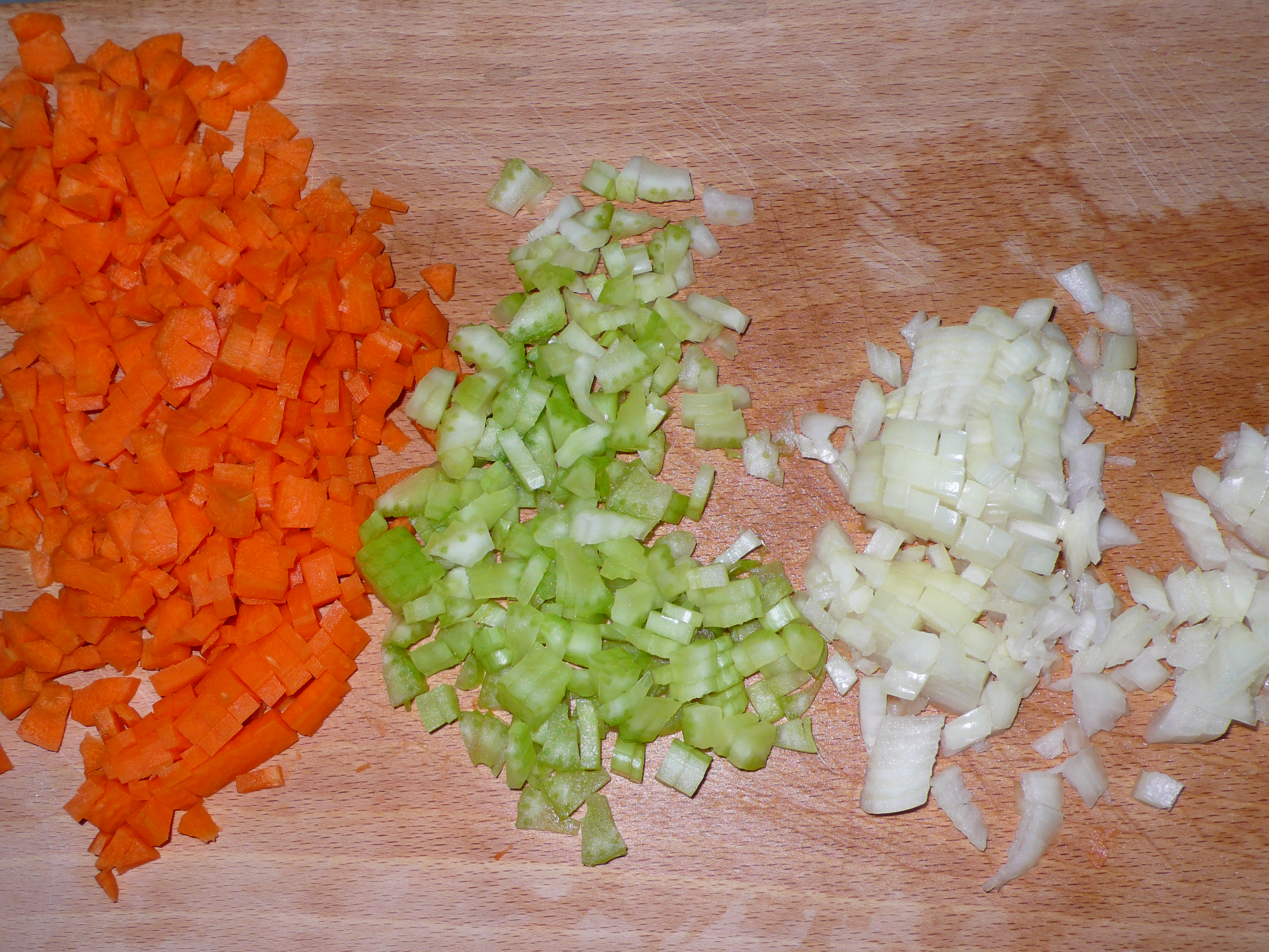 carrots, celery and onions