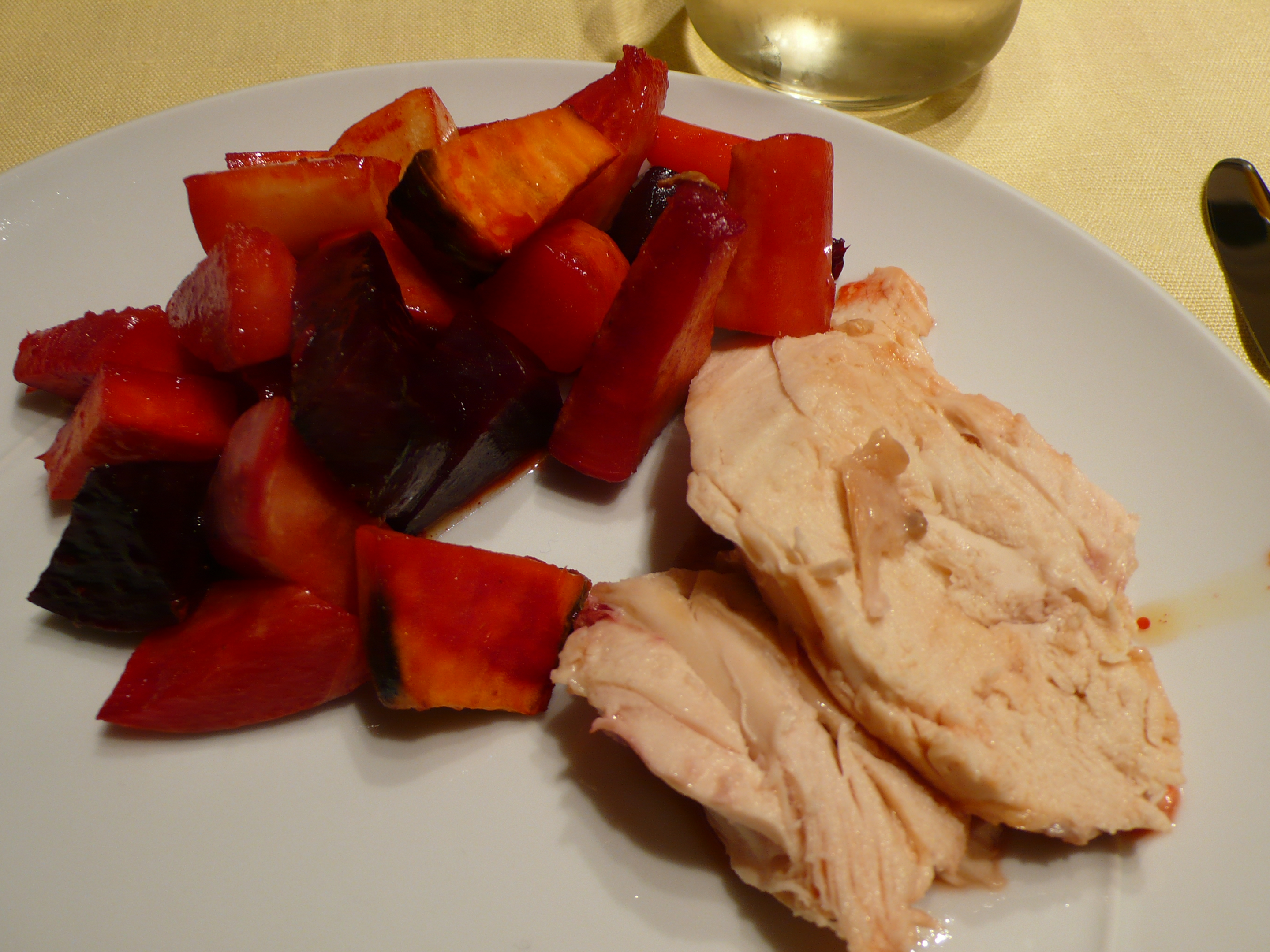 baked chicken with roasted veggies