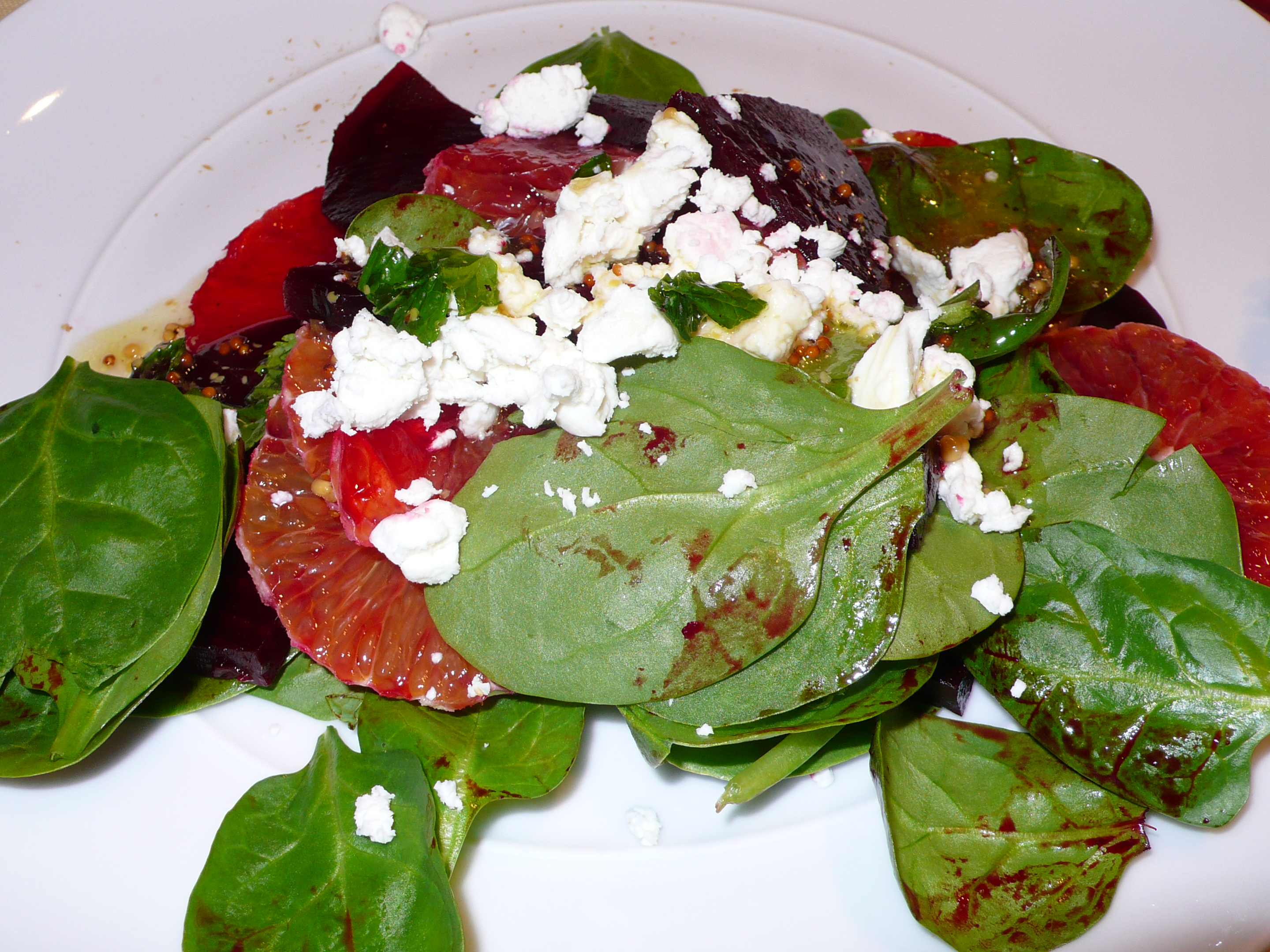 beet & blood orange salad with chèvre