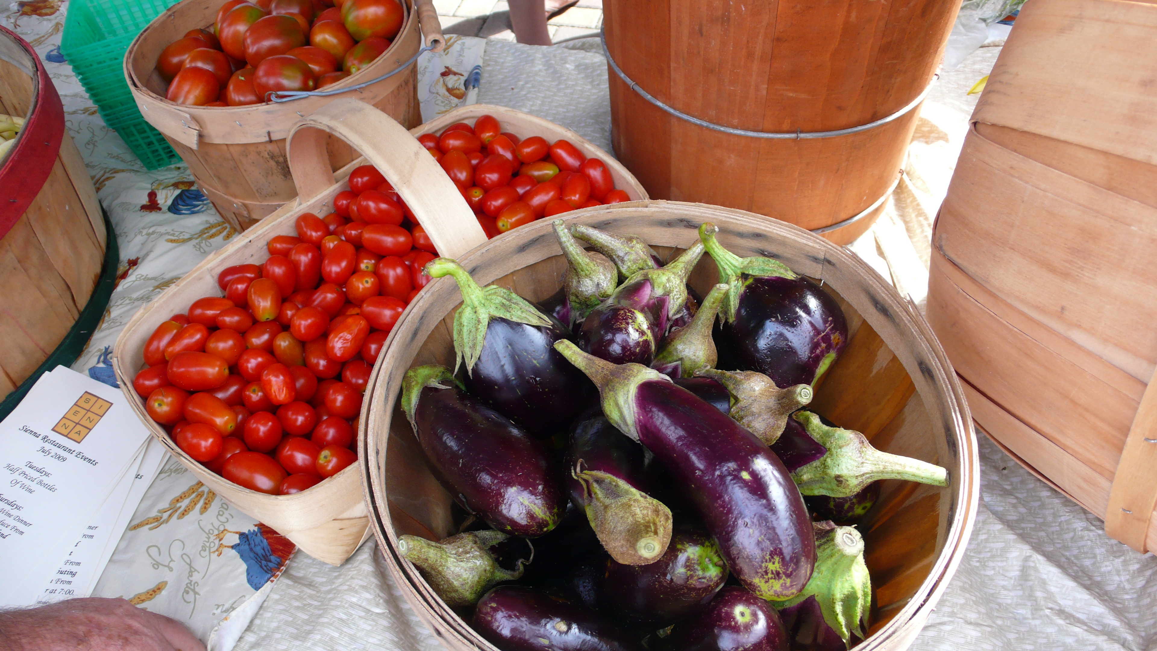 eggplants and maters