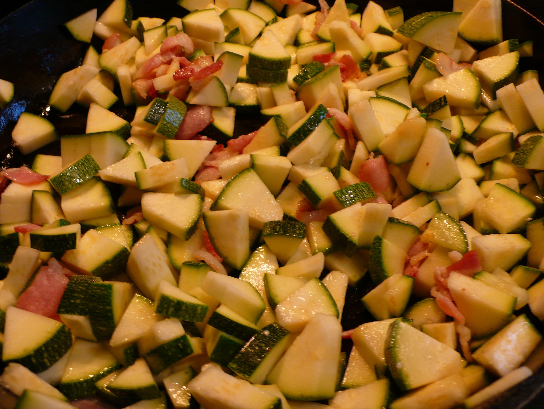 zucchini & bacon