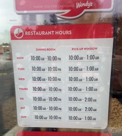 Wendy's Holiday Hours [ Wendys Open/Closed Hours 2020 ]